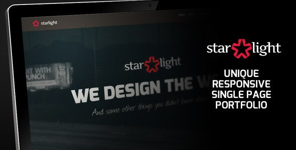 Starlight - Responsive Portfolio by Shegy | ThemeForest