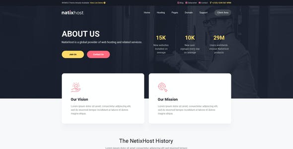 NatixHost - WHMCS & Hosting Template