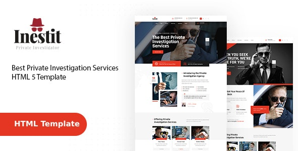 Inestit - Private Investigator HTML Template - Business Corporate