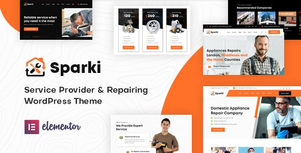 Sparki | Service Repair WordPress Theme - Technology WordPress