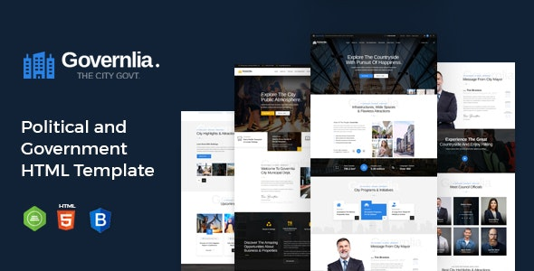 Governlia - Political and Government HTML Template - Political Nonprofit