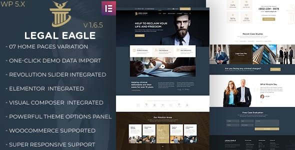Legal Eagle   Law Firm and Business WordPress Theme