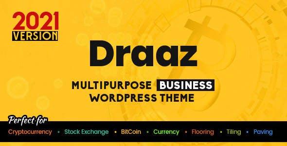 Draaz - Cryptocurrency and Flooring Multipurpose Business WordPress Theme