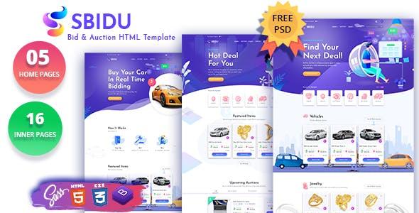 Sbidu - Bid And Auction HTML Template