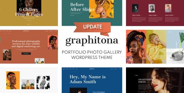 Graphitona - Portfolio Photo Gallery WordPress Theme - Photography Creative