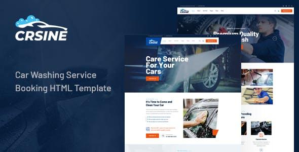 CRSINE - Car Washing Service Booking HTML Template
