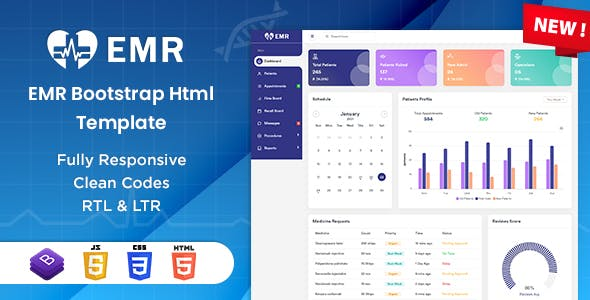 EMR - Bootstrap Admin HTML Template