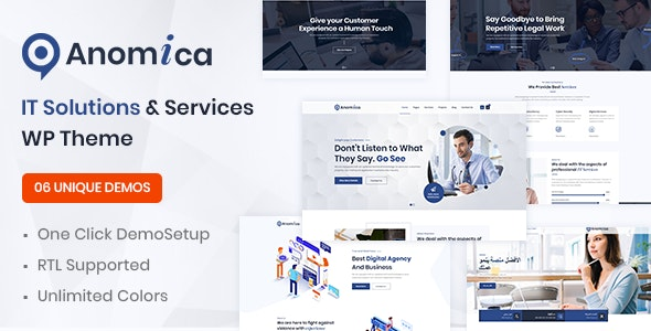 Anomica - IT Solutions and Services WordPress Theme - Business Corporate