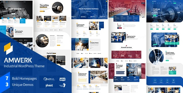 Amwerk Industry Wordpress Theme By Boldthemes Themeforest