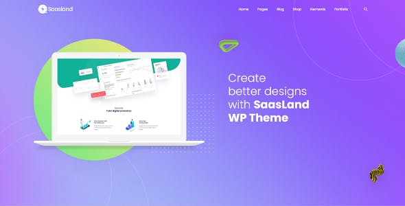 Saasland - MultiPurpose WordPress Theme for Saas Startup