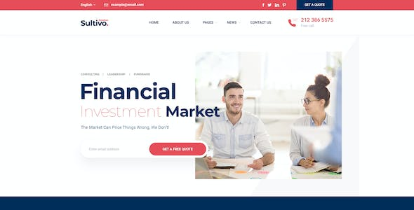 Sultivo - Finance PSD Template