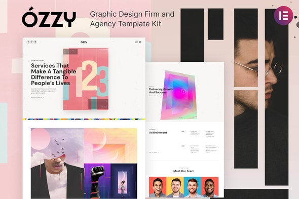 Ozzy - Graphic Design Firm and Agency Template Kit - Creative & Design Elementor