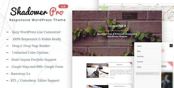 Shadower Pro - A Responsive WordPress Theme for Bloggers