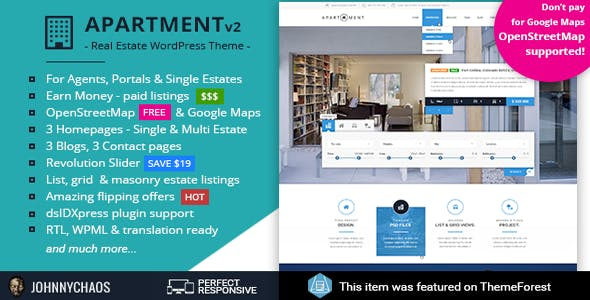 Apartment WP - Real Estate Responsive WordPress Theme