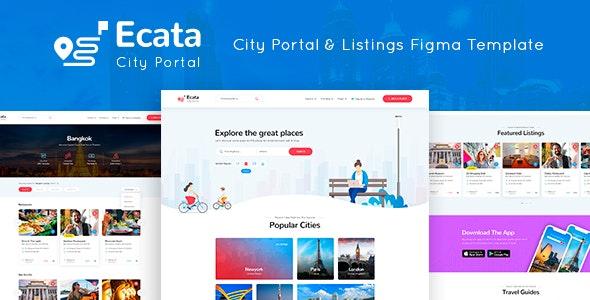 Ecata - City Guide Figma Template - Figma UI Templates