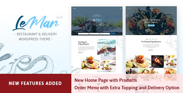 LeMar - Seafood Restaurant WordPress Theme - Restaurants & Cafes Entertainment