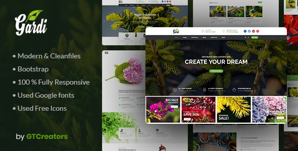 Gardening and Landscaping WordPress Theme - Gardi - Business Corporate