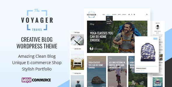 Voyager — Creative Blog WordPress Theme - Blog / Magazine WordPress