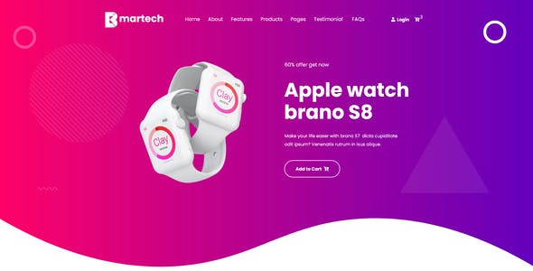 Bmartech - One Page XD Template
