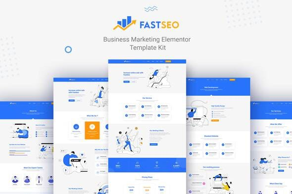 FastSEO - Business Marketing Elementor Template Kit - Business & Services Elementor