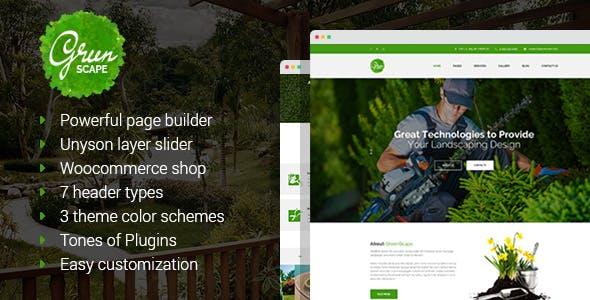 Greenscape - Lawn Mowing & Garden Landscaping WordPress Theme