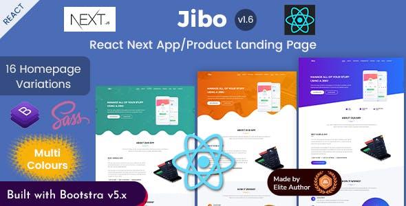 Jibo - React Next App & Product Landing Page