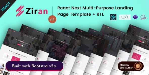 Ziran - React Next Multipurpose Portfolio Landing