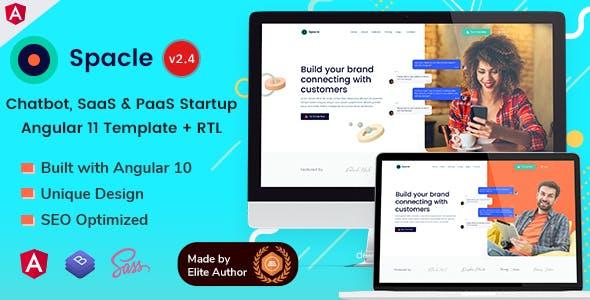 Spacle - Angular 11 Chatbot & SaaS Startups