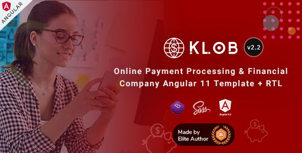 Klob - Angular 11 Online Banking & Payment Processing