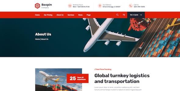 Boxpin - Logistics & Transportation XD Template