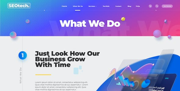 SEOtech | Modern SEO and Marketing Business Figma Template