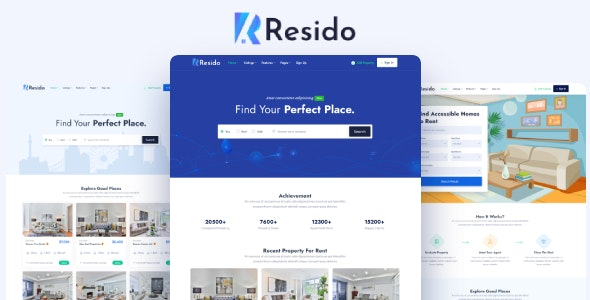Resido - Real Estate HTML Template - Business Corporate