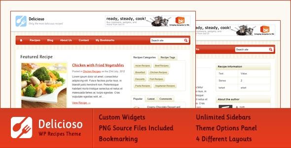 Delicioso WordPress Recipe Theme - Food Retail