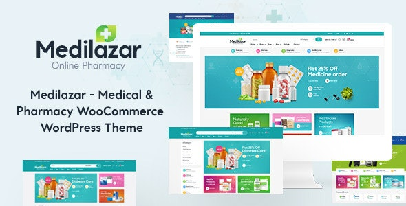 Medilazar - Pharmacy Medical WooCommerce WordPress Theme - WooCommerce eCommerce