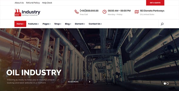 Industry - Factory & Industrial React Template