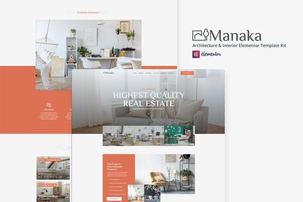 Manaka - Architecture & Interior Elementor Template Kit - Real Estate & Construction Elementor