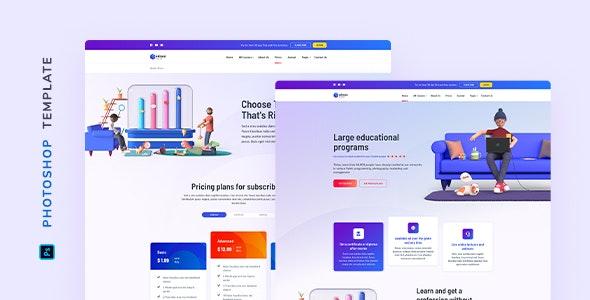 Edison – Online Education Template for Photoshop - Miscellaneous Photoshop