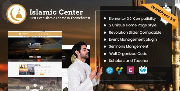 Islamic Center -  WordPress Religious Theme - Nonprofit WordPress
