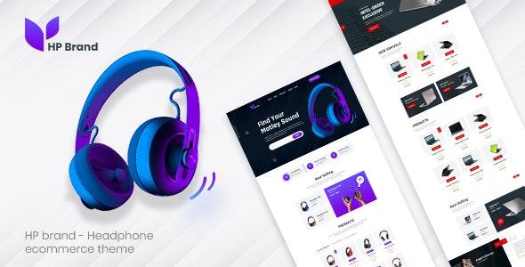 HP Brand - Headphone Ecommerce PSD Template - Corporate Photoshop