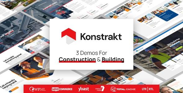 Konstrakt - WordPress Theme for Construction - Business Corporate