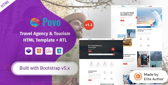 Povo - Travel Agency & Tour Operator HTML Template
