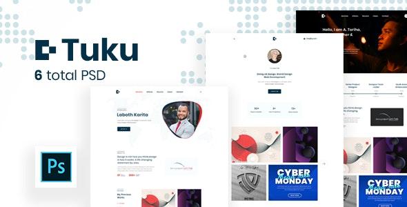 Tuku - Personal Portfolio PSD Template. - Personal Photoshop