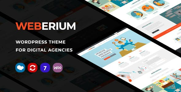Weberium | Responsive WordPress Theme Tailored for Digital Agencies