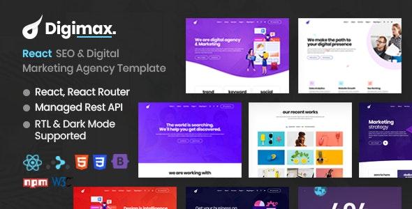 Digimax - React SEO & Digital Marketing Agency Template - Marketing Corporate
