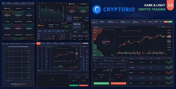 Cryptorio - Cryptocurrency Trading Dashboard HTML Template