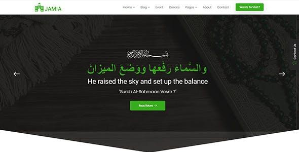 Jamia - Islamic Center Responsive HTML Template