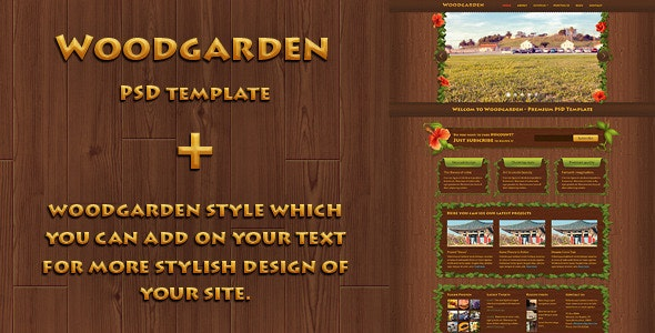 Woodgarden - Creative PSD Template - Creative Photoshop