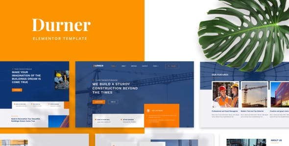 Durner - Construction Elementor Template Kit