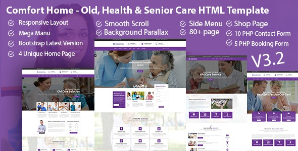 Comfort Home - Old, Health & Senior Care HTML Template - Health & Beauty Retail