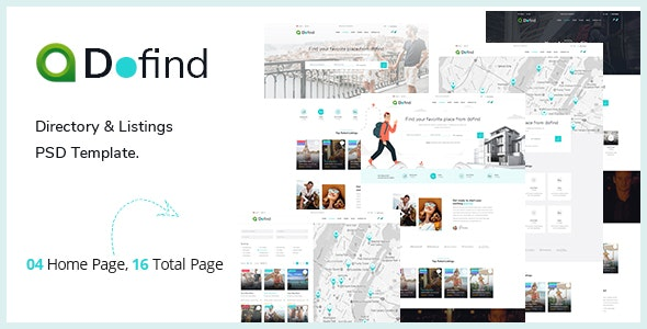 Dofind — Multipurpose Directory Listing PSD Template - Corporate Photoshop